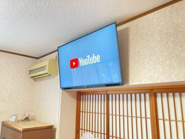 遠賀郡テレビ壁掛け工事